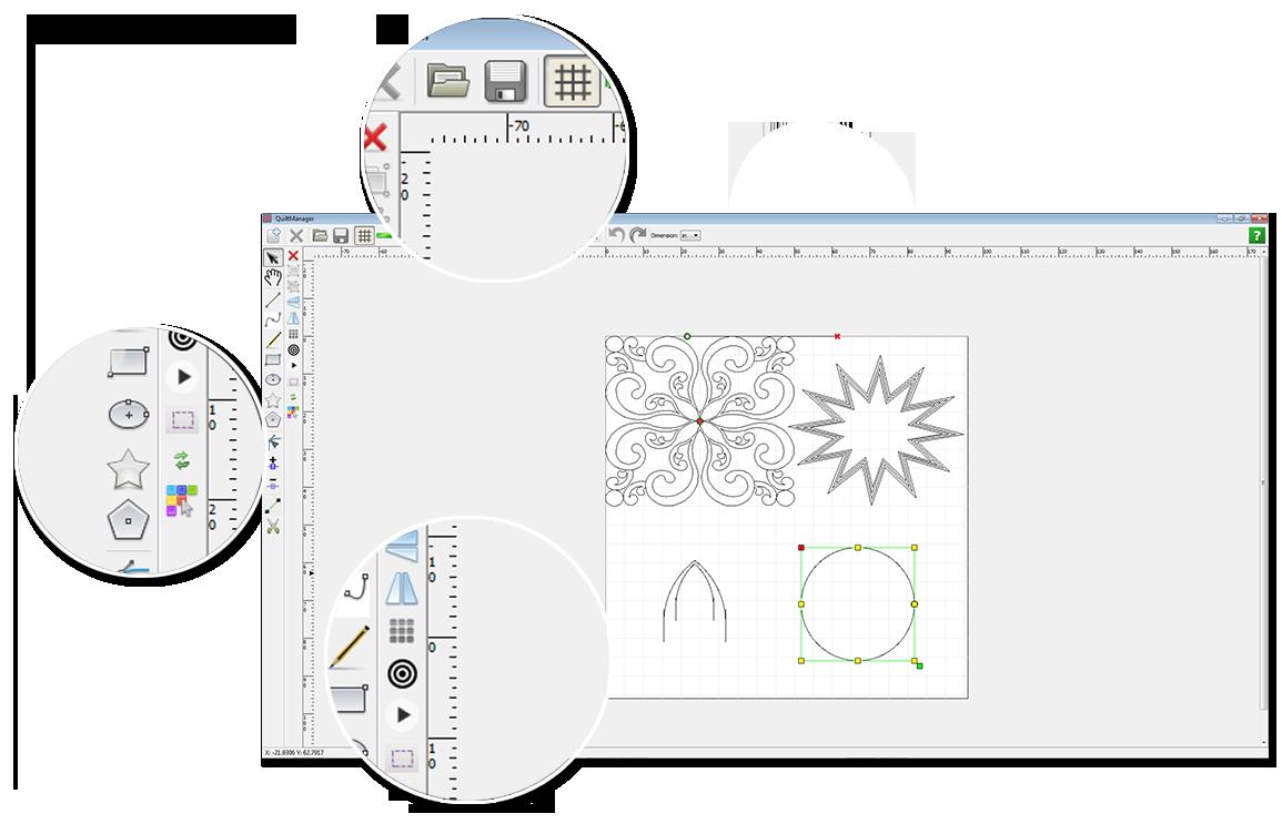 Quilt Manager: Robotic Quilting Digitizing Software   QuiltEZ.com : quilt software free - Adamdwight.com
